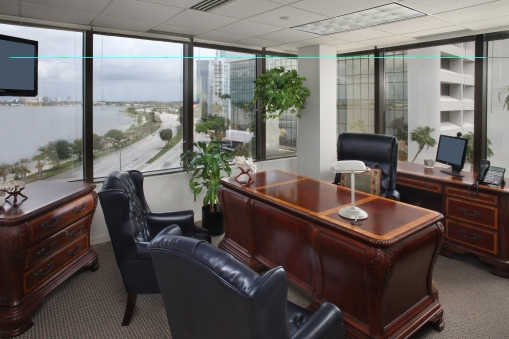 Office Building's offices, reception, exterior, lobby, mini-suites, conference rooms with photography by Randy Smith Photo